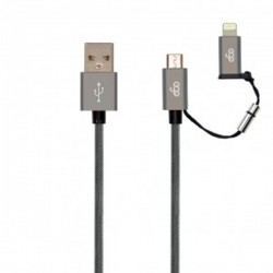 EGO 100500 LIGHTNING CABLE MFI 3A 2M GREY
